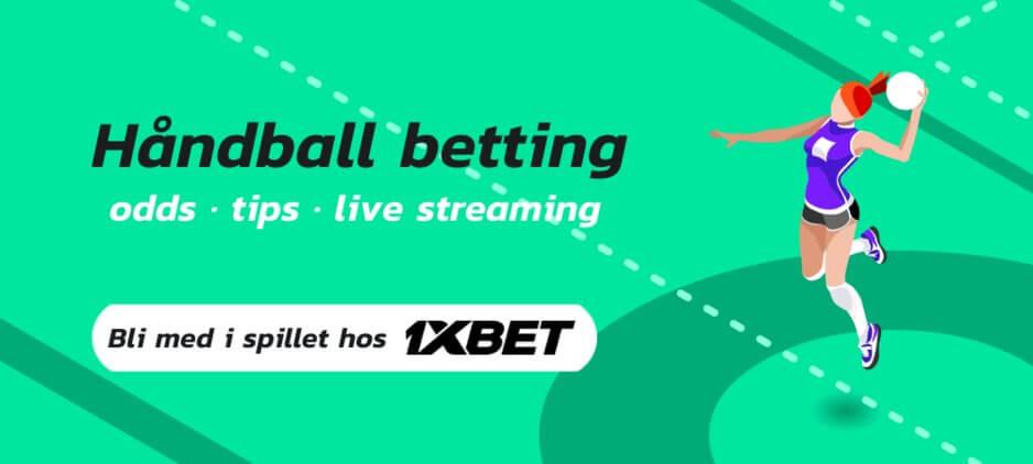 Handball betting 1xbet