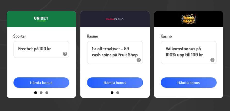Online casinon som accepterar Swish